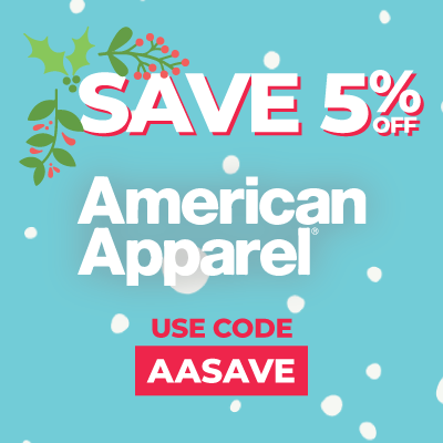 5% off American Apparel
