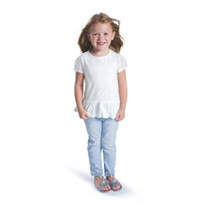 Rabbit Skins Drop Ship 3327 Toddler Fine Jersey Ruffle Tee