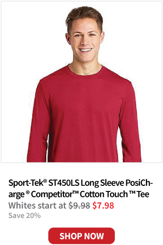 Sport-Tek ST450LS Sport-Tek ® Long Sleeve PosiCharge ® Competitor ™ Cotton Touch ™ Tee