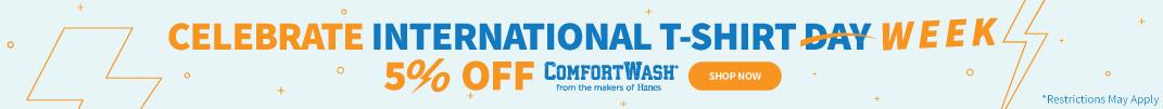 International T-Shirt Week - 5% Off ComfortWash by Hanes 06.22.2021
