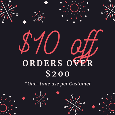 $10 Off Any Order Over $200