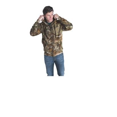 code five 3989 men's realtree camo zip hoodie other image