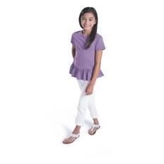 LAT 2627 Girls' Ruffle Fine Jersey T-Shirt